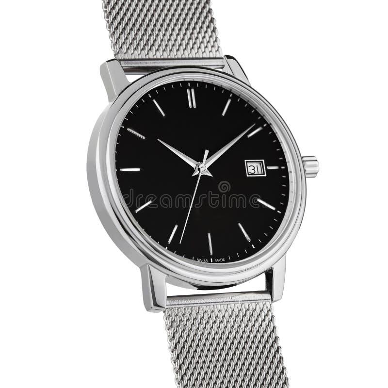 Ręka zegarek na białym tle obrazy stock