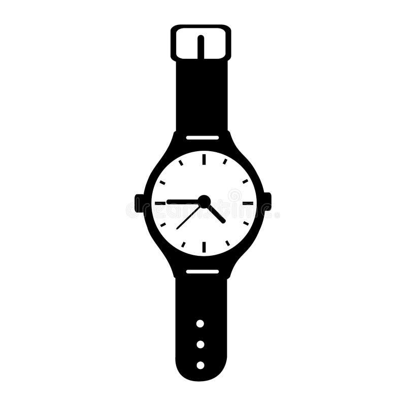 ręka zegarka odosobniona ikona ilustracja wektor