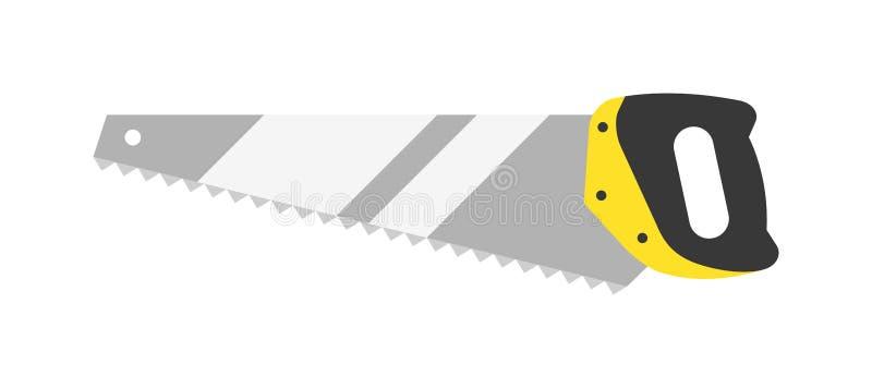 Ręka zobaczył narzędzie ręki wyposażenia płaskiego wektor odizolowywającego na białym tle ilustracja wektor
