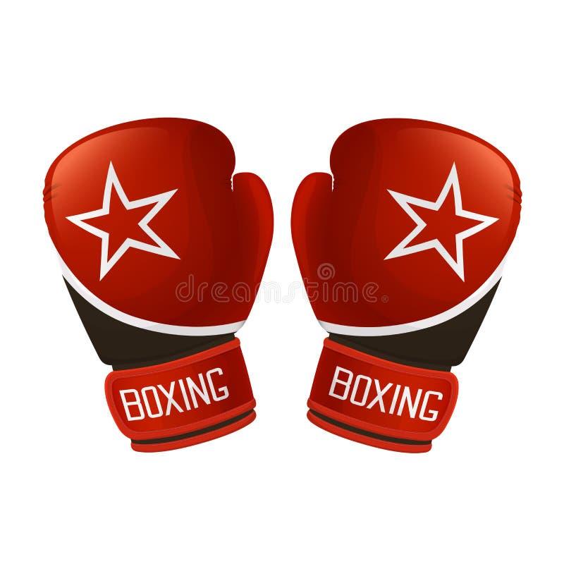 rękawice bokserskie czerwone ilustracja wektor