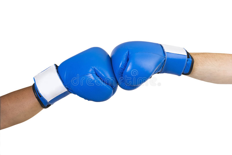 rękawice bokserskie niebieskie fotografia stock