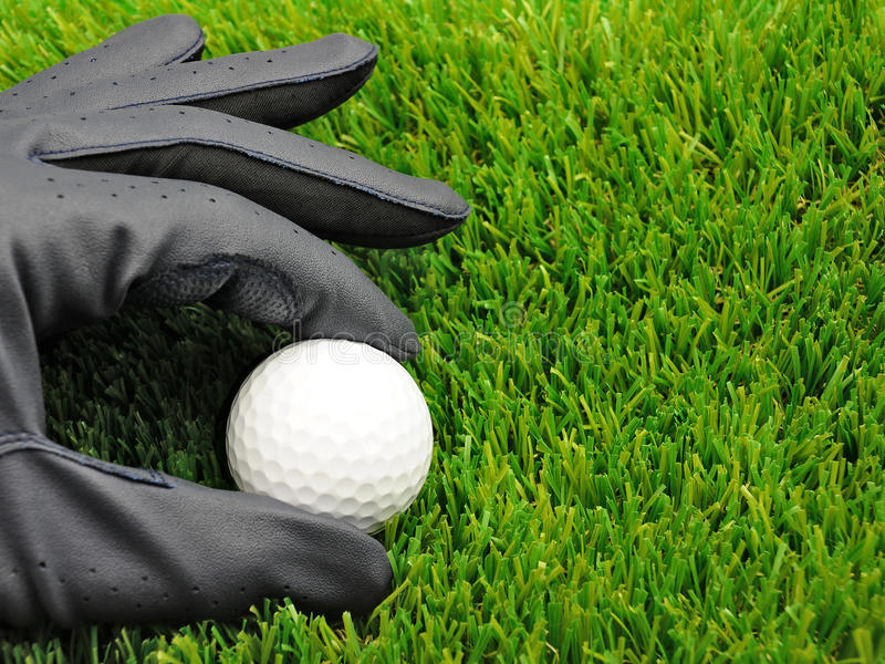 rękawiczka balowy golf fotografia stock