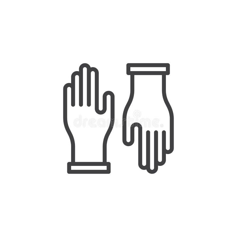 Rękawiczka konturu ikona royalty ilustracja