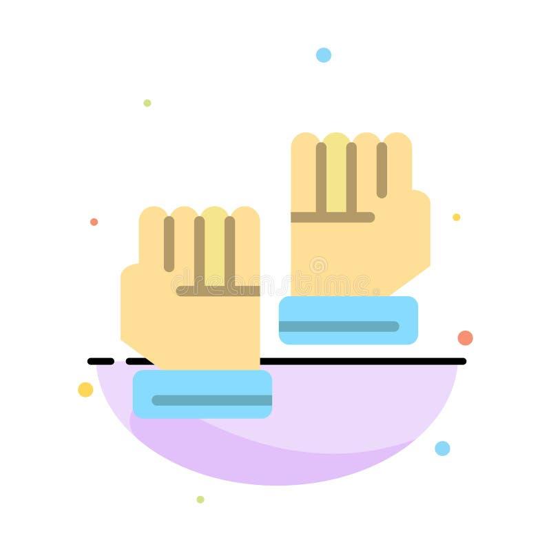 Rękawiczka, rękawiczki, bramkarz, sporta koloru ikony Abstrakcjonistyczny Płaski szablon royalty ilustracja