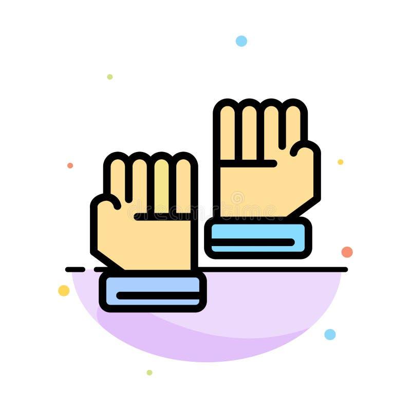Rękawiczka, rękawiczki, bramkarz, sporta koloru ikony Abstrakcjonistyczny Płaski szablon ilustracji