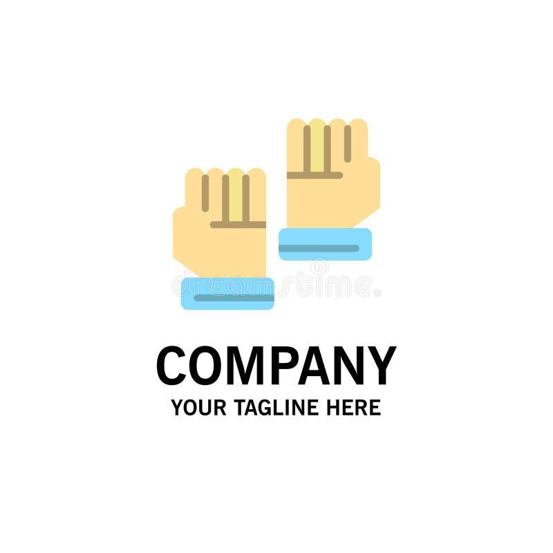 Rękawiczka, rękawiczki, bramkarz, sporta logo Biznesowy szablon p?aski kolor ilustracja wektor