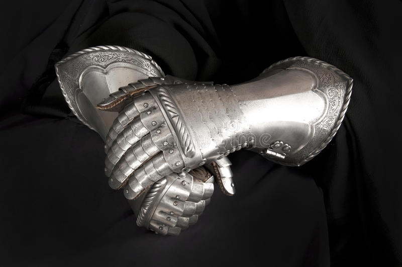 Rękawiczka rycerz zdjęcie royalty free