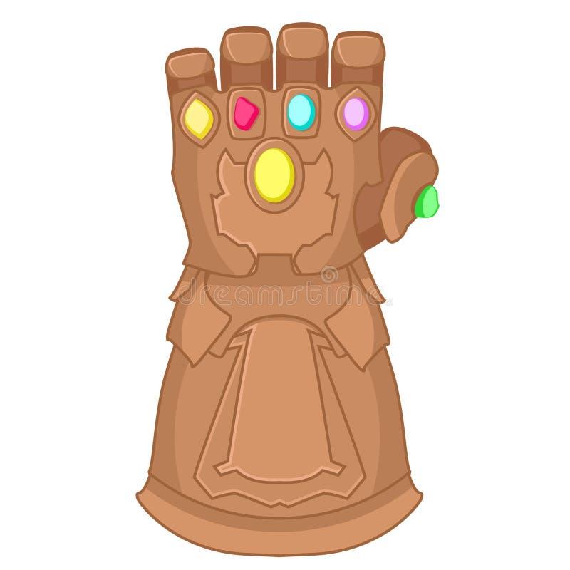 Rękawiczka Thanos bohater na białym tle ilustracji