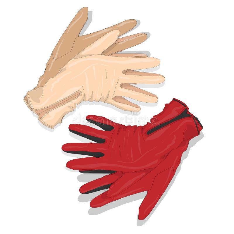 Rękawiczka ustawiający wektor ilustracja wektor