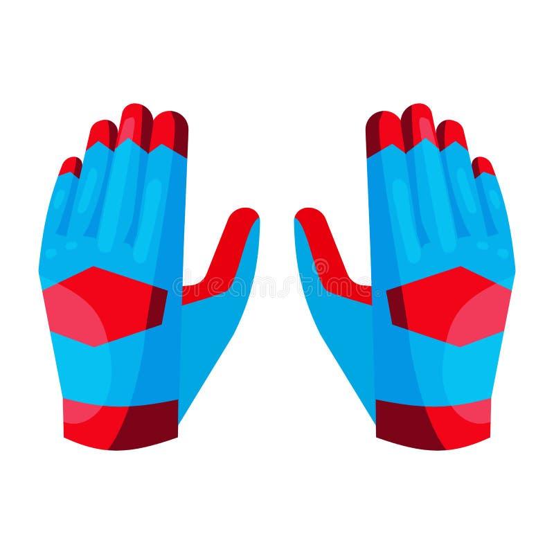Rękawiczki bramkarz ikona, kreskówka styl ilustracji