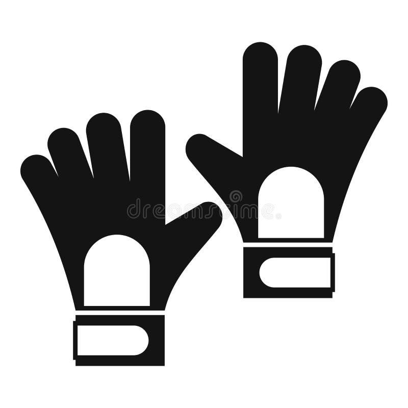 Rękawiczki bramkarz ikona, prosty styl royalty ilustracja