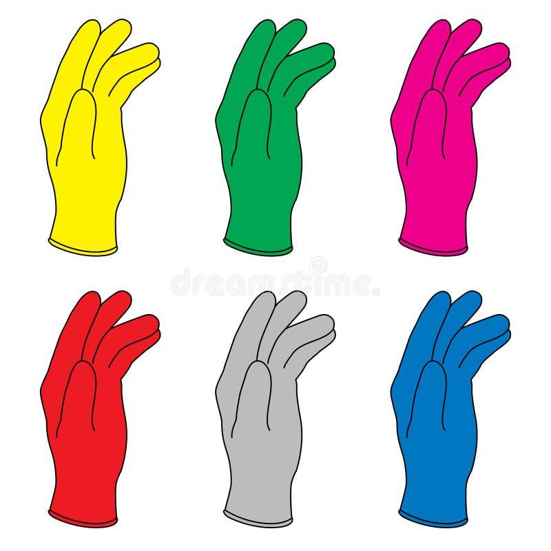 rękawiczki gumowe ilustracji
