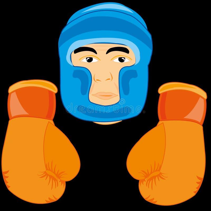 Rękawiczki i wysyłają boksera ilustracja wektor