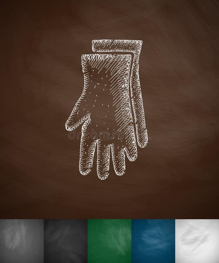 Rękawiczki ikona ilustracji