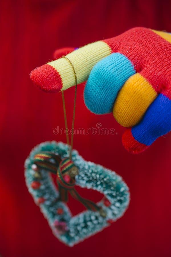 Rękawiczki z sercem zdjęcie stock