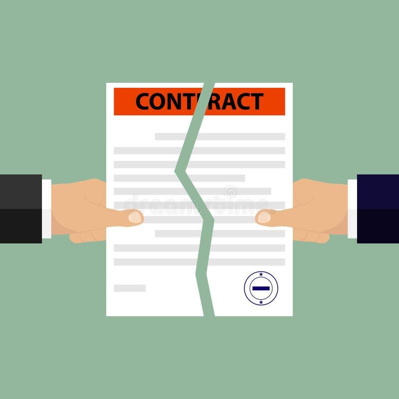 Ręki łamają kontrakt ilustracji