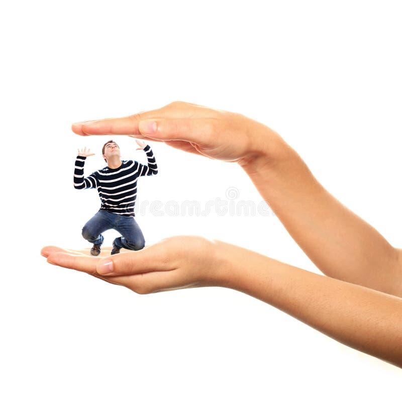 ręki łapać w pułapkę zdjęcia royalty free