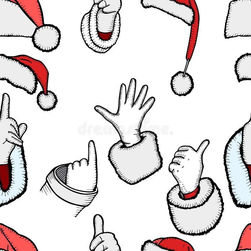 Ręki Święty Mikołaj royalty ilustracja