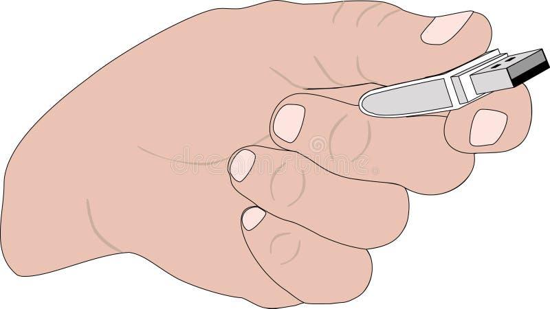 ręki błyskowa pamięć ilustracji
