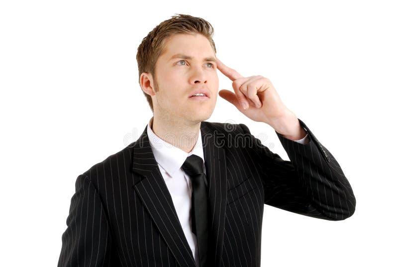 ręki biznesowa głowa główkowanie mężczyzna główkowanie obrazy stock