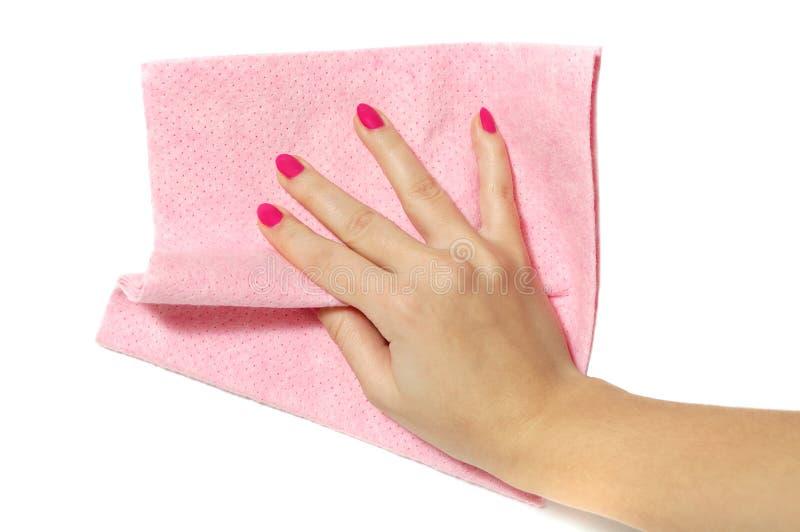 ręki czyścić ściana fotografia stock