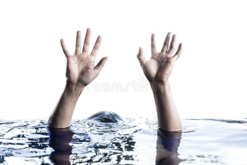 Ręki dźwigania above - woda obrazy royalty free