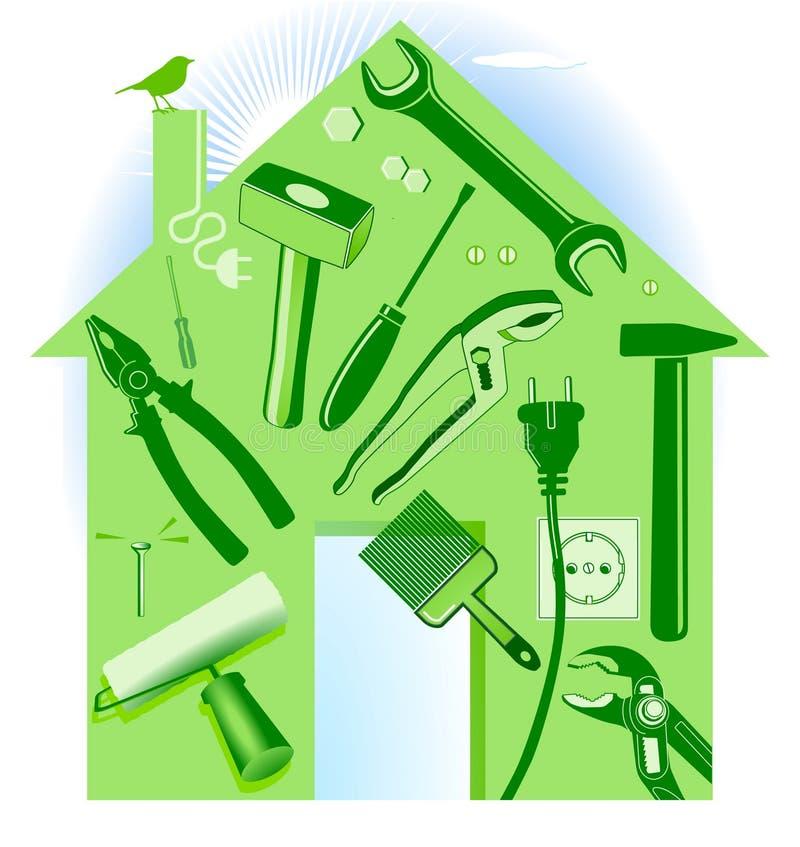 ręki domu narzędzie royalty ilustracja