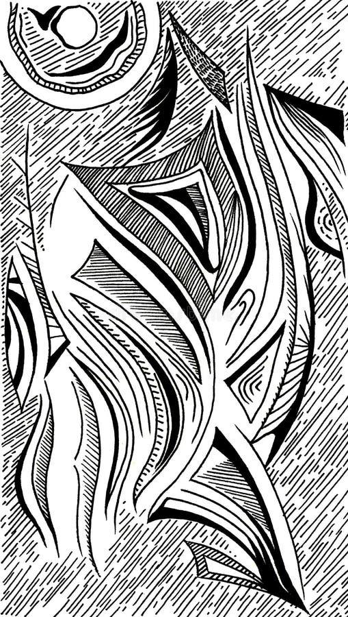 Ręki drawnbstraction rozwody obraz stock