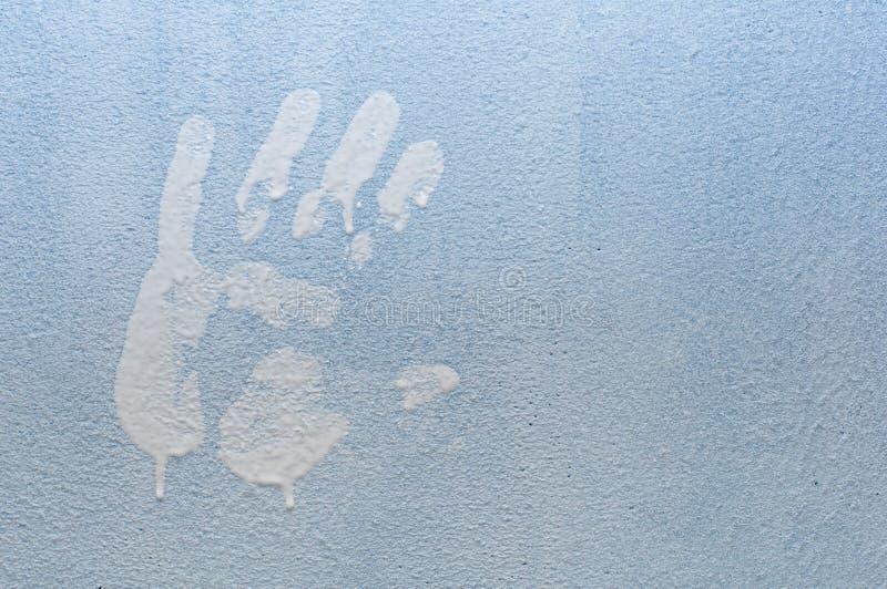 ręki druku ściana obraz royalty free