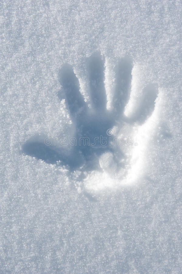 ręki druku śnieg zdjęcia stock