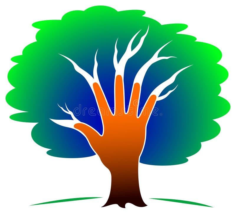 ręki drzewo royalty ilustracja
