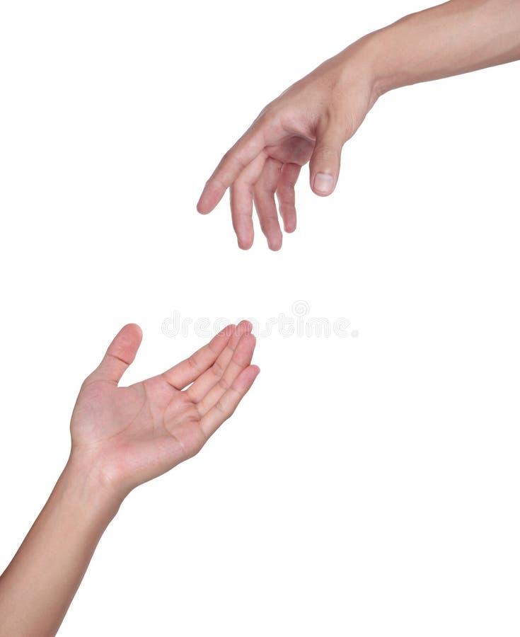 ręki dwa zdjęcia stock