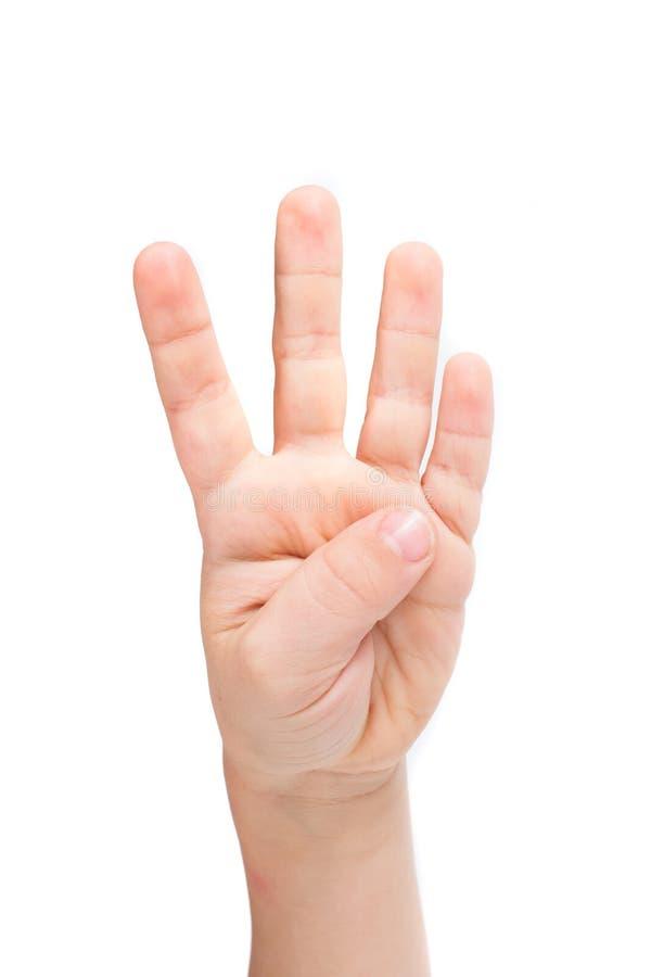 Ręki dziecko odizolowywający zdjęcia stock