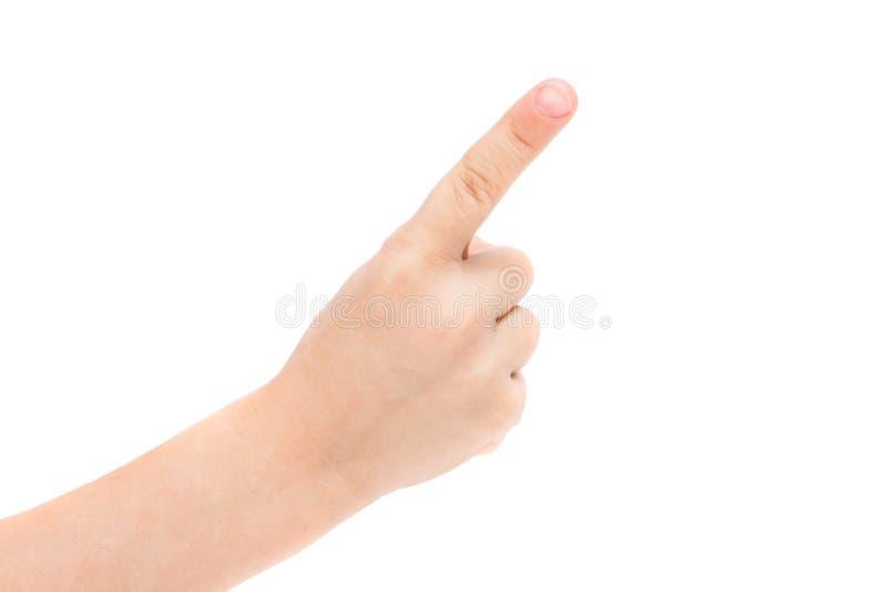 Ręki dziecko odizolowywający obraz stock