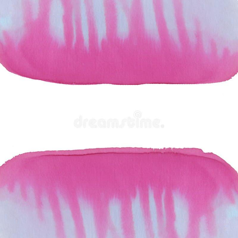 Ręki farby abstrakta tło Żywa obcieknięcie farba Menchii i purpur kolorów tło ilustracji