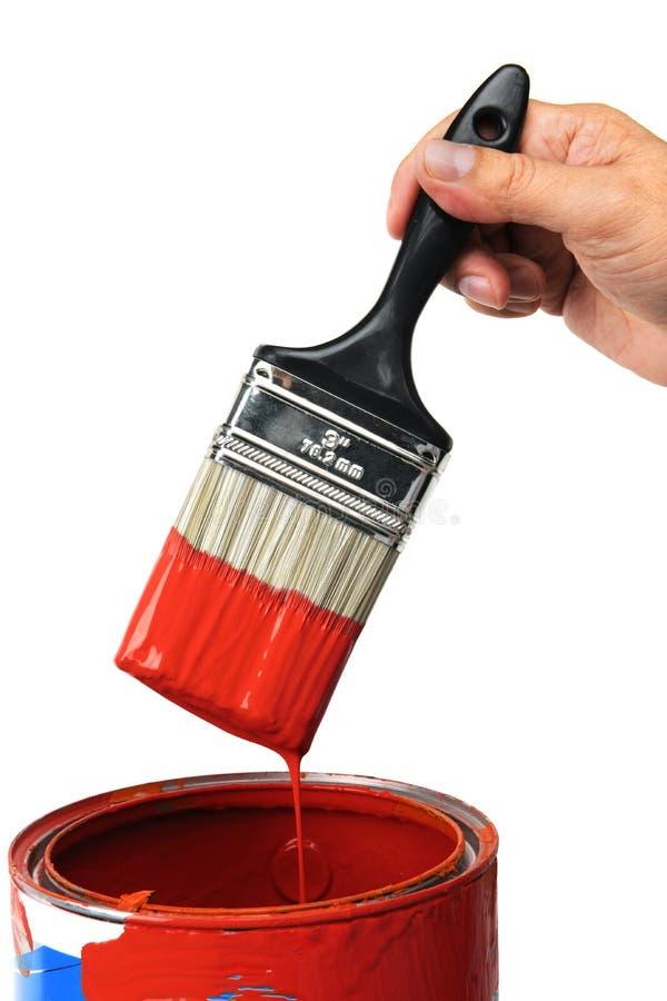 ręki farby czerwień zdjęcia royalty free