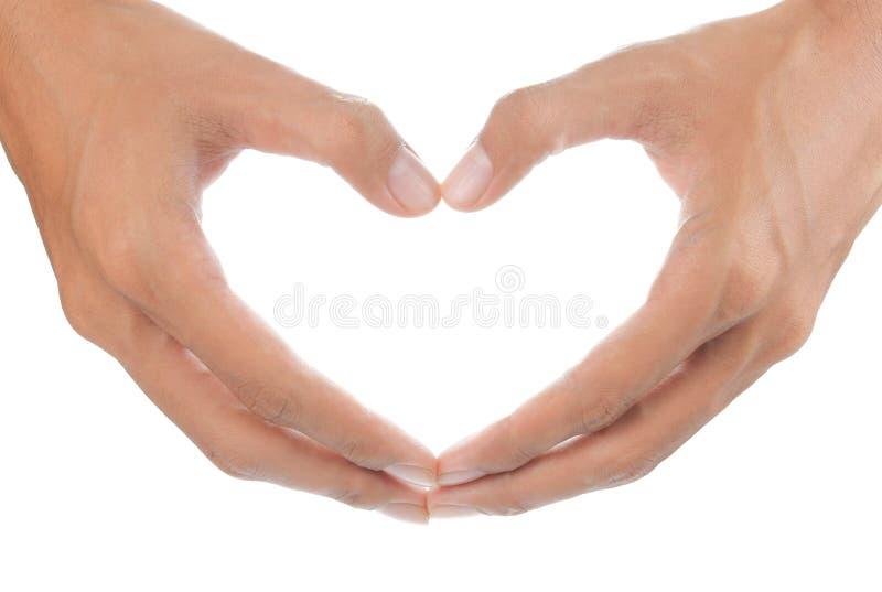 ręki formularzowy serce obrazy royalty free