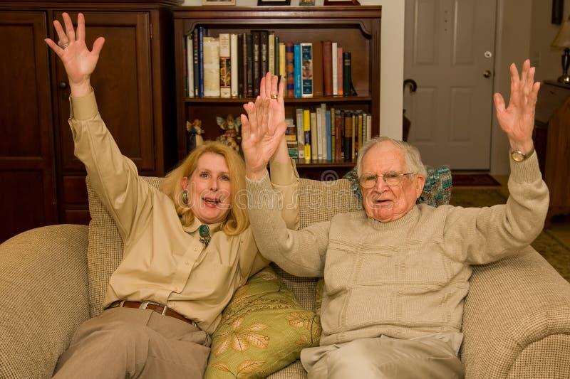 ręki hooray up zdjęcia royalty free