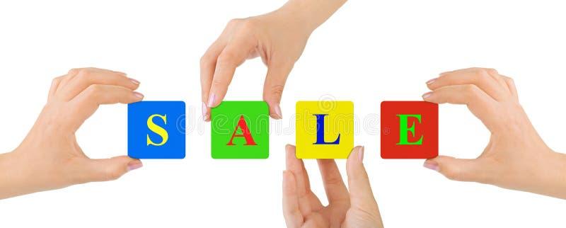 Ręki i sprzedaż fotografia stock