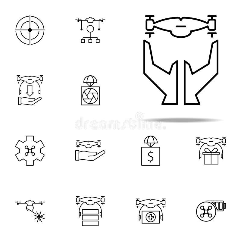 ręki i truteń ikona Truteń ikon ogólnoludzki ustawiający dla sieci i wiszącej ozdoby royalty ilustracja