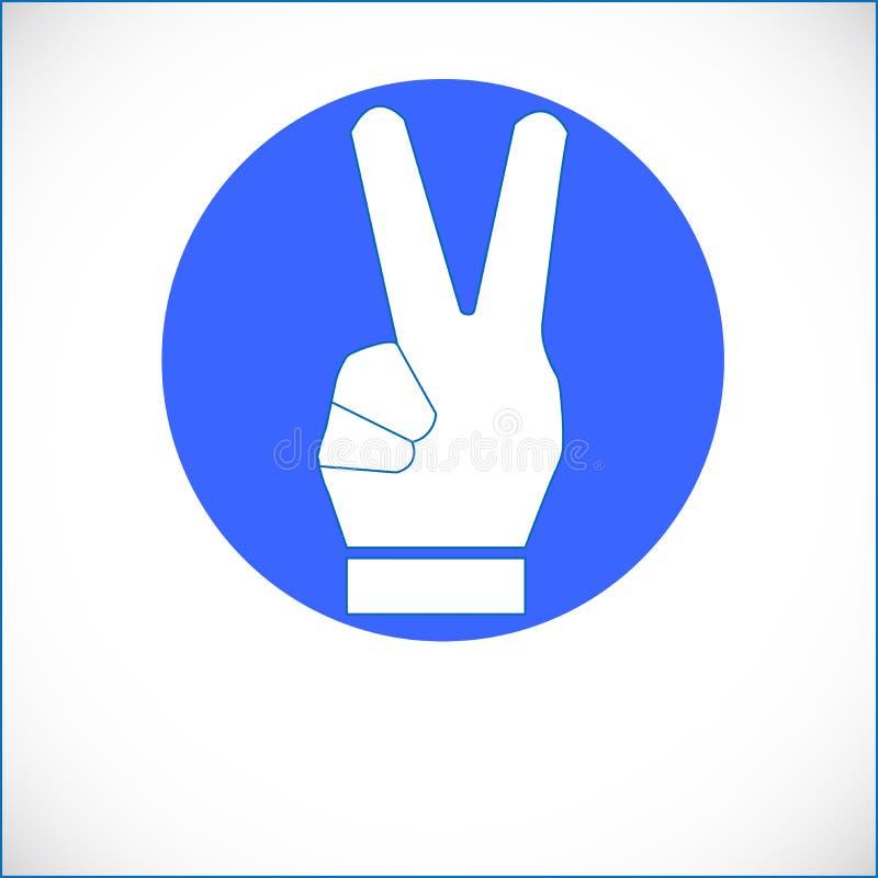 Ręki ikona dla ogólnospołecznej medialnej sieci obraz stock