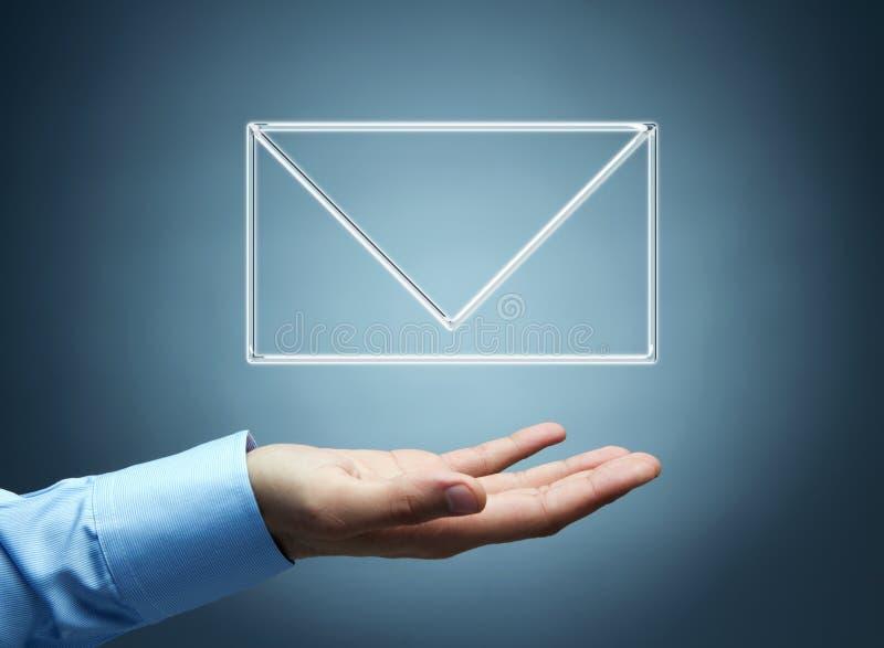 ręki ikony poczta samiec target456_0_ wirtualny zdjęcia stock