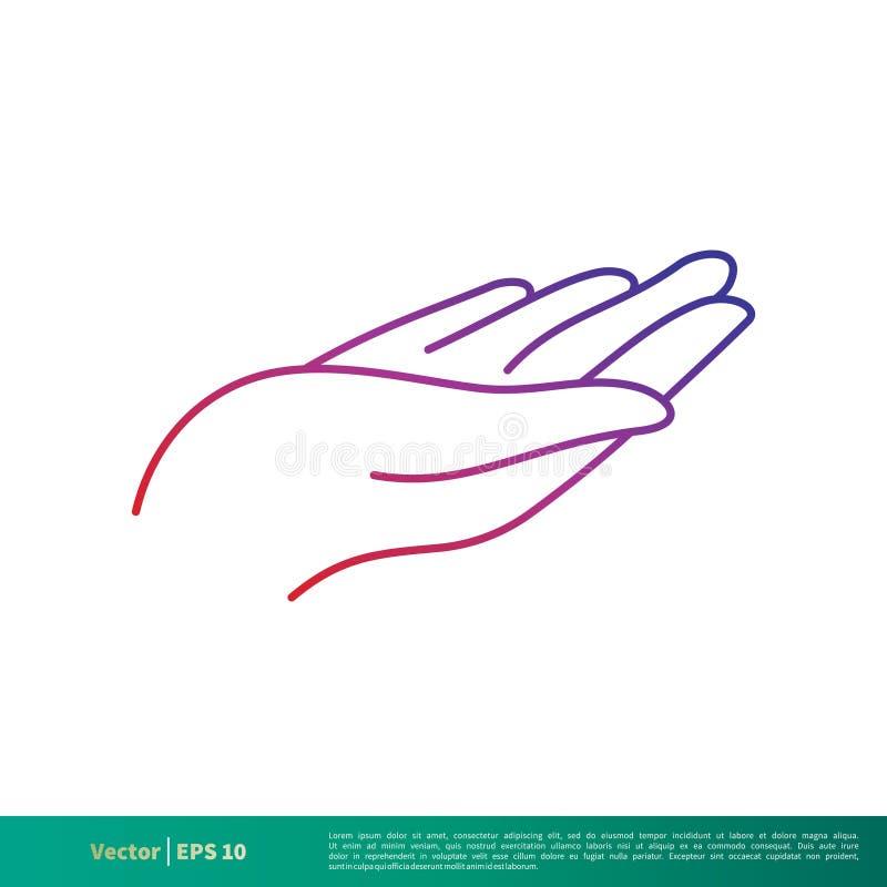 Ręki linii ikony logo Wektorowego szablonu Ilustracyjny projekt Wektor EPS 10 ilustracja wektor