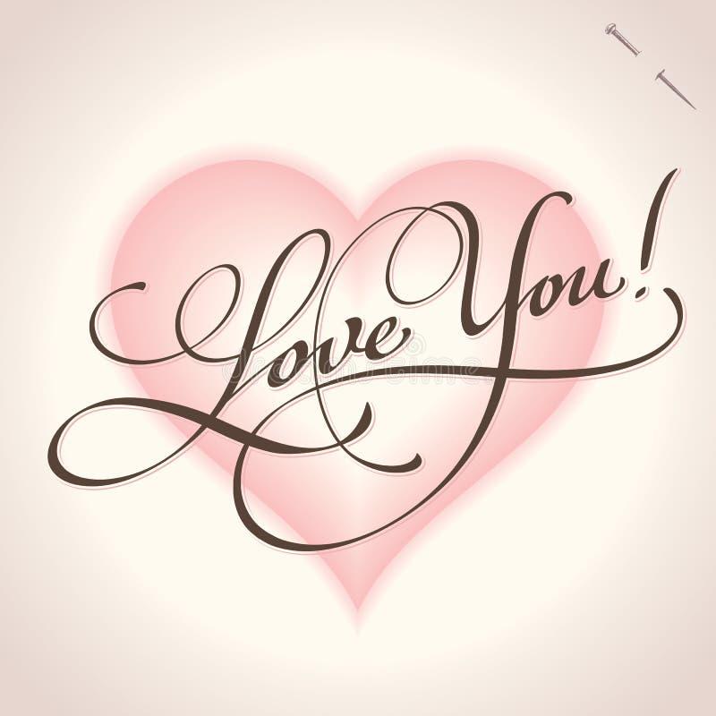 ręki literowania miłości wektor ty ilustracji