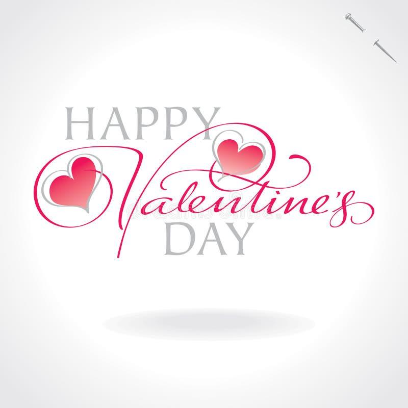 ręki literowania valentines wektor ilustracji