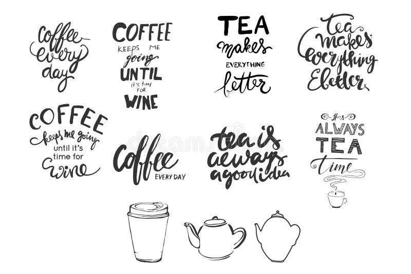 Ręki literowanie i zwyczaj typografia obrazy stock