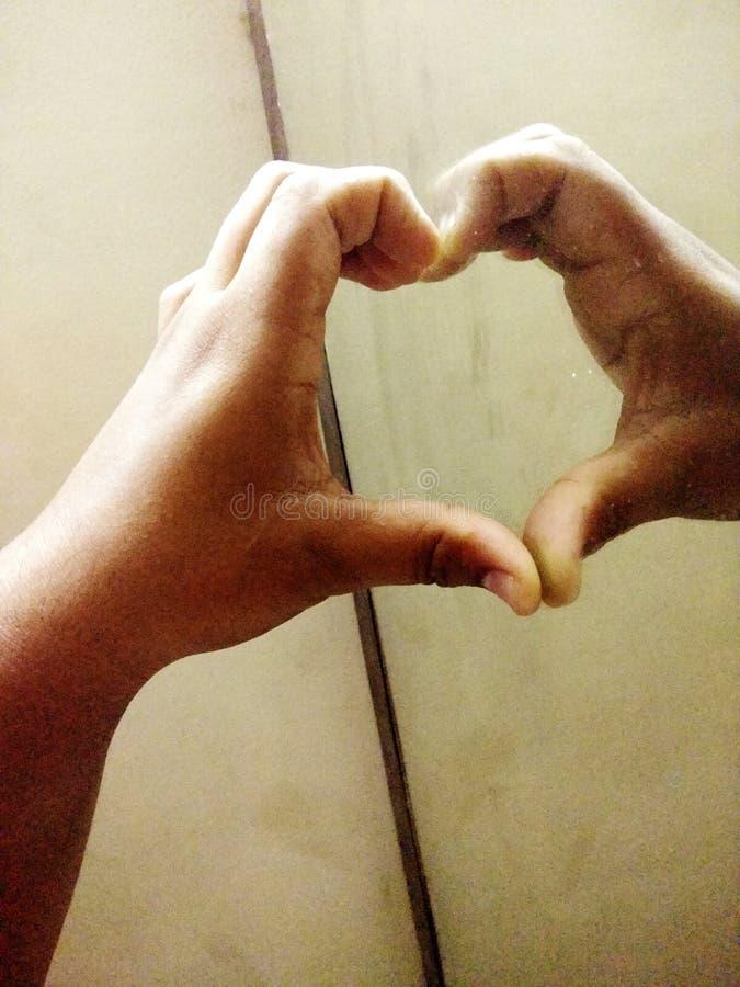 Ręki miłość na zawsze zdjęcia stock