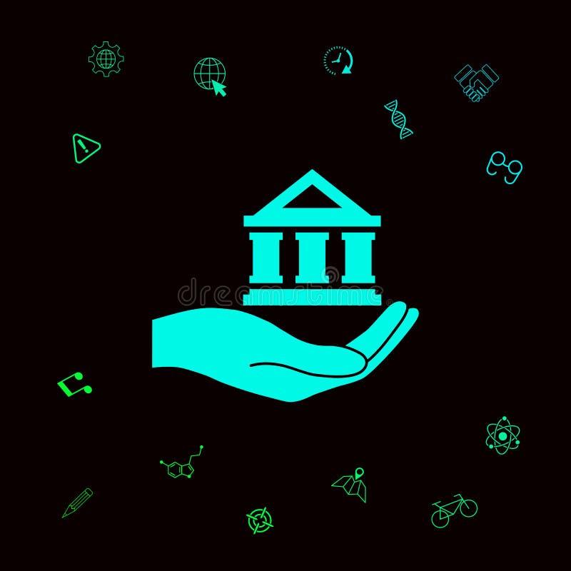 Ręki mienia bank Graficzni elementy dla twój designt ilustracji