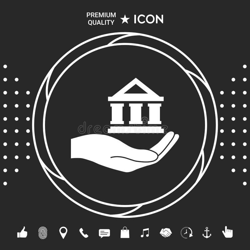 Ręki mienia bank Graficzni elementy dla twój designt royalty ilustracja