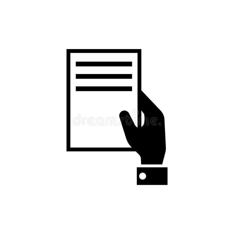 Ręki mienia dokumentu Płaska Wektorowa ikona ilustracji